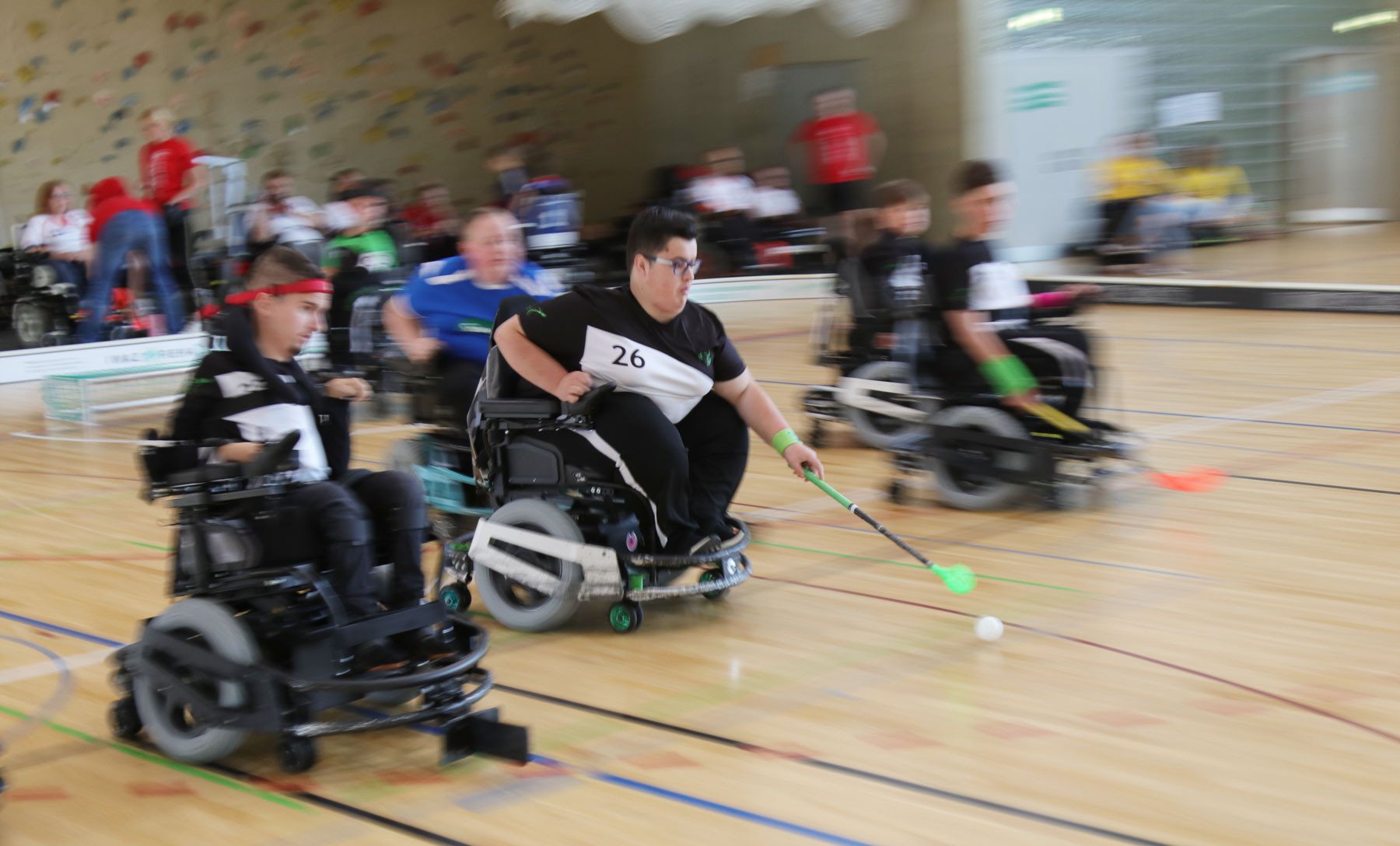 Powerchair Hockey Spiel